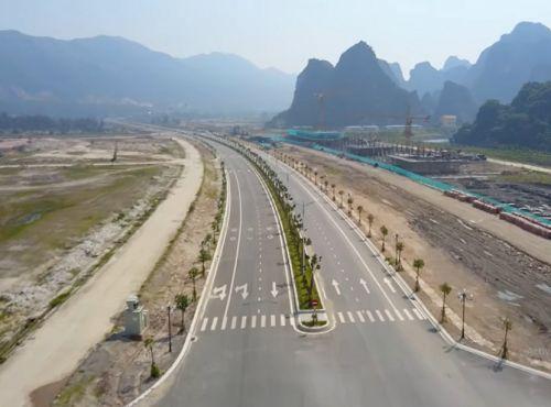 Đường trục chính 58m vân đồn đoạn qua khu đô thị Ocean Park