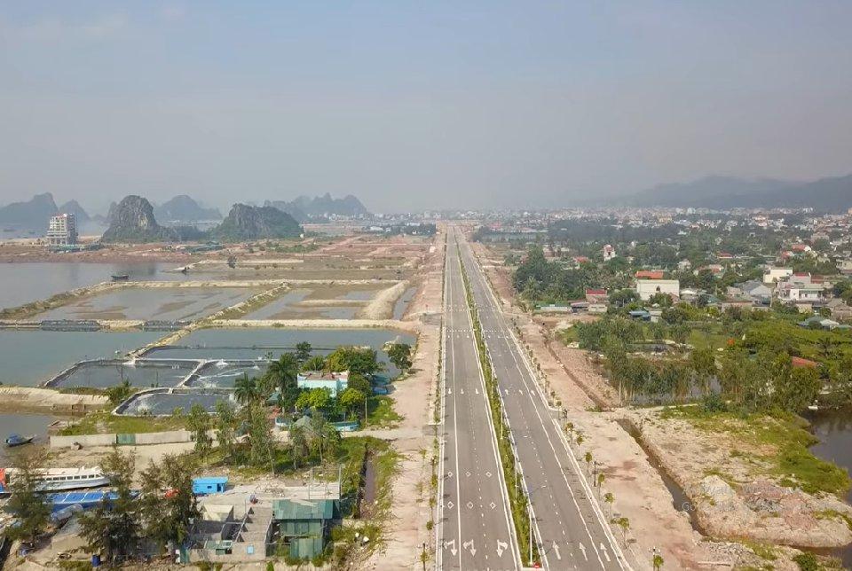 Trục đường chính Vân Đồn 58m