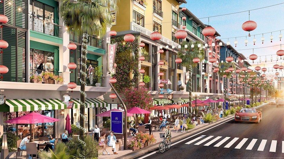 Khu phố thương mại Sonasea Vân Đồn Harbor City